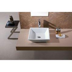 Luxier L-006 Bathroom Porcelain Ceramic Vessel Vanity Sink Art Basin