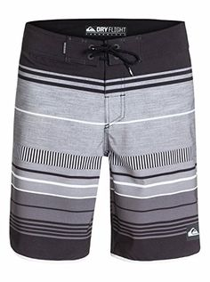 Quiksilver Mens AG47 Pacific Stripe 19 Inch Boardshort Pacific Stripe Black 34 *** Click the swimwear image to view the details
