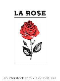 Illustration with slogan for t shirt design. Stamp Drawing, Rose Drawing Tattoo, Aesthetic Shirts, Logo Design Inspiration, Cute Stickers, New Outfits, Printed Shirts, Print Design, Graphic Tees