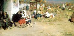 ARKHIPOV Abram - Radonitsa (laud). 200 Russian painters • download painting • Gallerix.ru