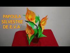 Como fazer flor de EVA (Bromélia Rynchospora) - YouTube
