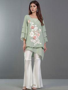 MINT MELODY vintage style Eid dress by Zainab Chottani