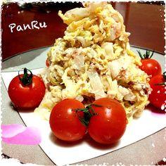 白菜が余ったときに作るサラダ(pq′∀`*)パクパクいっぱい食べ過ぎちゃう(笑) - 110件のもぐもぐ - 白菜のサラダ by PanRu