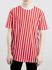 Red White Blazer Stripe T-Shirt