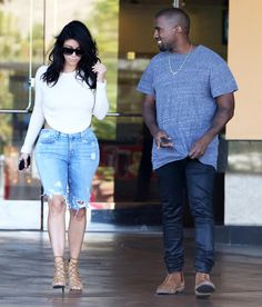 Pin for Later: Leave It to Kim Kardashian to Make a Movie Date Totally Sexy in a Pair of Jorts Kim Kardashian Movie Date Style
