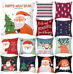Christmas Pillowcase Xmas Decor for Home – Hopikas Christmas Tree Star, Christmas Snowflakes, Christmas Gifts, Decorative Pillow Cases, Xmas Decorations, Cushions, Holiday Decor, Garden, Pattern