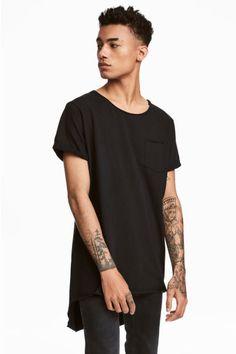 Długi T-shirt - Czarny - ON | H&M PL