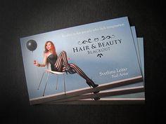 Business card for Blackout hair salon. http://blackouthair.fi/