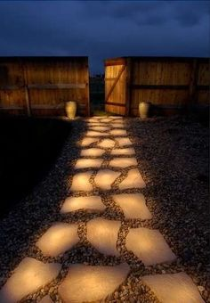 glow stones…..glows at night after soaking up the sun all day. yes.