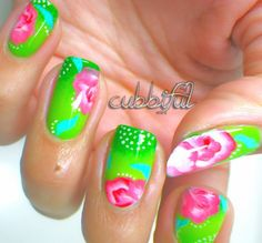 Collection of 17 Beautiful Floral Nail Art Ideas for Spring and Summer
