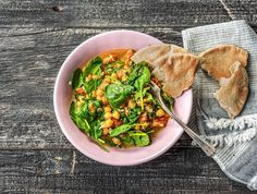 Points Weight Watchers, Pain Pita, Hello Fresh Recipes, Risotto, Curry, Meals, Chicken, Dinner, Healthy