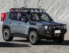 Jeep Renegade Trailhawk with all the toys  http://www.neneoverland.co.uk/jeep-outfitting/jeep-outfitting.php