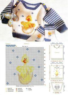 Knitting For Kids Baby Boy Knitting Patterns Free, Beanie Pattern Free, Baby Sweater Knitting Pattern, Knitting Charts, Knitting For Kids, Baby Patterns, Christmas Crochet Blanket, Diy Crafts Knitting, Crochet Baby Dress Pattern