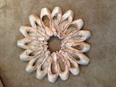 Pointe shoe wreath made from some of my old ballet shoes. Custom orders and sizes available from foreverlytink's eBay store