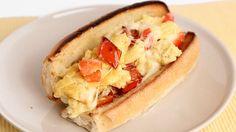 Peppers & Egg Sandwich – Laura Vitale – Laura in the Kitchen Hope you enjoy! We Love Ya, Dominic & Frank #EverybodyLovesItalian www.EverybodyLovesItalian.com