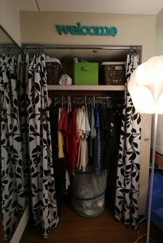 Mizzou Student Room- Room Remix 2013. Great organization for the closet!