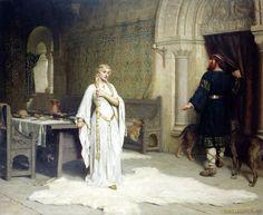 Lady Godiva Edmund Blair Leighton - 1892 Leeds Art Gallery  (United Kingdom - Leeds)      Height: 127 cm (50 in.), Width: 152 cm (59.84 in.) Painting - oil on canvas