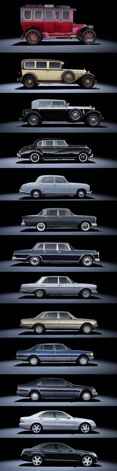 Evolution of the Mercedes S Class #Mercedes