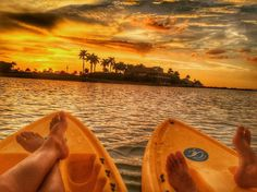 Sunset by kayak. Where do you like to enjoy a Paradise sunset? Photo by IGER c_ermold