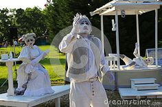 Photo about CPAA theatres, China - living statues at international festival of living statues in Bucharest, Romania. Image of moment, mimic, festival - 93864498