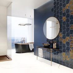 Placi ceramice calitate premium din colectia Urban Colours. Wall And Floor Tiles, Wall Tiles, Tiles Texture, Decorative Tile, Bathroom Colors, New Homes, Urban, Colours, Mirror