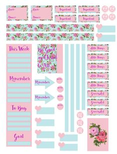 Floral Planner Stickers pg 2
