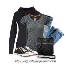 Casual Black & Gray, created by steffiestaffie on Polyvore