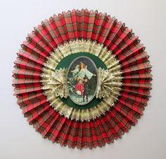 Μεγάλη Χριστουγεννιάτικη ροζέτα απο χαρτόνι και φιγούρα απο ριζόχαρτο με την τεχνική του ντεκουπάζ. - DIY Christmas rosette  Σαμαρτζή - Βιβλιοπωλείο - Hobby - Καλλιτεχνικά: ΙΔΕΕΣ ΓΙΑ ΧΕΙΡΟΤΕΧΝΙΕΣ - ΧΑΛΚΙΔΑ