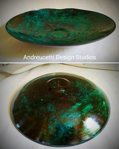 Handcrafted copper bowl in green aging patina. Salvaged Decor, Irish Design, Irish Art, Organic Form, Metal Fabrication, Metal Art, Metal Working, Craftsman, Copper