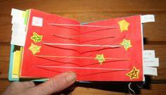 Creare libri per bambini - libro dei numeri con rilegatura giapponese e stelline