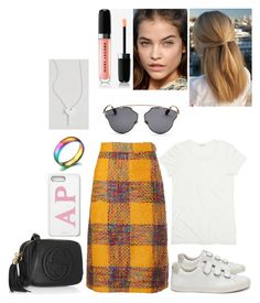 """""""out #193"""" by tynabrookler ❤ liked on Polyvore featuring Valentino, Gucci, Veja, Christian Dior and The Giving Keys"""