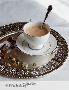 Choco-Chai - An indulgent blend of creamy tea recipe with warm spices and rich cocoa | With A Spin