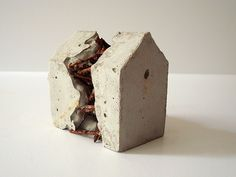 breach   Concrete and nails, sculpture   Sharon Pazner