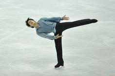 Oct 19, 2013; Detroit, MI, USA; Takahiko Kozuka of Japan competes during the mens free skate event at the 2013 Skate America figure skating competition at Joe Louis Arena. Mandatory Credit: David Richard-USA TODAY Sports (1535×1024)