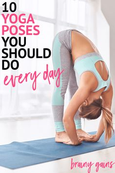 Got sore muscles or just looking to tone up? Practice these 10 yoga poses daily and your muscles will be relaxed, your whole body will be toned, and you'll feel fabulous!