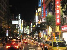 tokyo neon night lights - http://johnrieber.com/2014/11/03/speaking-japanese-an-adventure-in-language-and-communication/