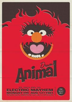 Pinning for the interpretation and nostalgia :) | Retro Muppet Concert Posters | Michael De Pippo