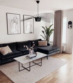 brilliant solution small apartment living room decor ideas and remodel 27 ⋆ Home & Garden Design Scandinavian Design Living Room, Minimalist Living Room, Living Design, Living Room Decor Apartment, Living Room Scandinavian, Home And Living, Living Decor, White Furniture Living Room, Apartment Decor