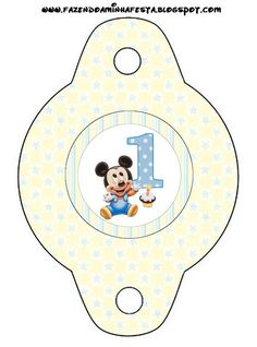 Mickey Baby - Kit Completo com molduras para convites, rótulos para guloseimas, lembrancinhas e imagens!