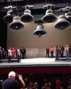Ensayos sobre escenario. Coro del Teatro Municipal y Orquesta Filarmónica de Santiago. Ópera, Parsifal. 2013