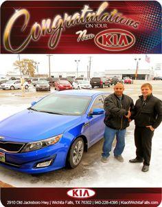 Congratulations to Miguel Ortiz and his NEW 2014 Kia Optima SX! - From Brandon Warton at Patterson Kia