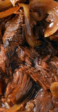 An easy recipe for tender and juicy Slow Cooker BBQ Pot Roast that you can whip up quickly with a few simple ingredients! Slow Cooker Roast, Crock Pot Slow Cooker, Crock Pot Cooking, Slow Cooker Recipes, Crockpot Recipes, Cooking Recipes, Game Recipes, Bbq Beef Crockpot, Crockpot Dishes