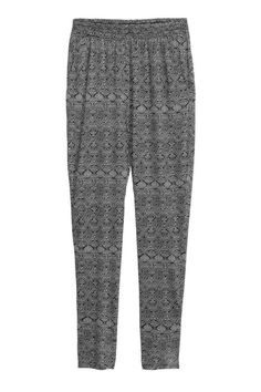 Wzorzyste spodnie z dżerseju | H&M