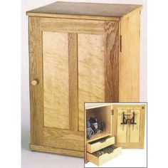 Router Storage Cabinet Downloadable Plan - a great way to save money and still care for your tools.