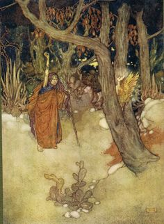 Prospero: She did confine thee…And in her most unmitigable rage, Into a cloven pine - Shakespear's Comedy of The Tempest, 1908