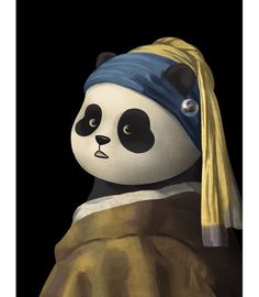 Panda With A Pearl Earring