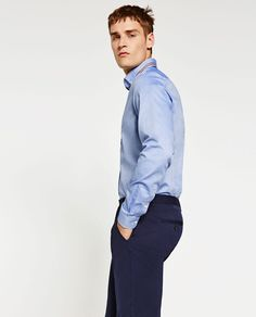 Image 1 of SLIM FIT OXFORD SHIRT from Zara