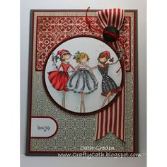 Stamping Bella Uptown Girls the THREE AMIGAS EB235 Stamp - Scrap-Mart