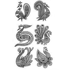 Рисование узоров Мехенди. Drawing patterns mehendi