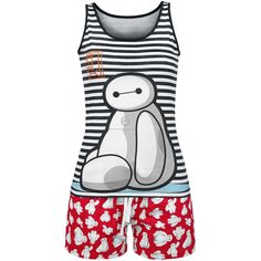 Baymax - Big Hero 6 - Just Sit Down  - Pyjama set: white top and red shorts - Printed top and shorts - Walt Disney  The clumsy Baymax on the ´Just Sit Down´ pyjamas has made himself comfortable so that he doesn´t cause chaos again. The Baymax - Big Hero 6 Pyjamas consist of a cute top and shorts with all-over print.